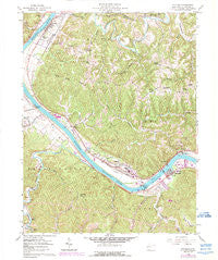 Winfield West Virginia Historical topographic map, 1:24000 scale, 7.5 X 7.5 Minute, Year 1958