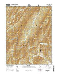 Wolf Gap West Virginia Historical topographic map, 1:24000 scale, 7.5 X 7.5 Minute, Year 2014