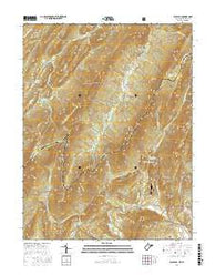 Wolf Gap West Virginia Current topographic map, 1:24000 scale, 7.5 X 7.5 Minute, Year 2016