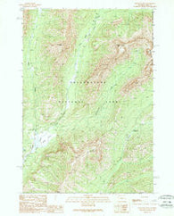 Abiathar Peak Wyoming Historical topographic map, 1:24000 scale, 7.5 X 7.5 Minute, Year 1989
