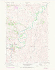 Acme Wyoming Historical topographic map, 1:24000 scale, 7.5 X 7.5 Minute, Year 1968