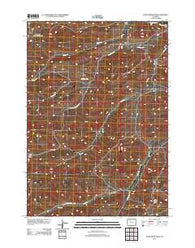 Adam Weiss Peak Wyoming Historical topographic map, 1:24000 scale, 7.5 X 7.5 Minute, Year 2012