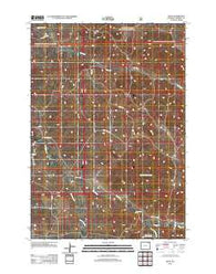 Adon Wyoming Historical topographic map, 1:24000 scale, 7.5 X 7.5 Minute, Year 2012