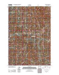 Adon NW Wyoming Historical topographic map, 1:24000 scale, 7.5 X 7.5 Minute, Year 2012