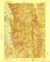 Afton Wyoming Historical topographic map, 1:125000 scale, 30 X 30 Minute, Year 1921