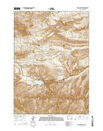 Anchor Reservoir Wyoming Current topographic map, 1:24000 scale, 7.5 X 7.5 Minute, Year 2015 from Wyoming Map Store