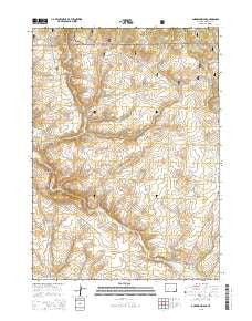 Anderson Ridge Wyoming Current topographic map, 1:24000 scale, 7.5 X 7.5 Minute, Year 2015