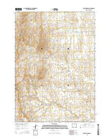 Antelope Draw Wyoming Current topographic map, 1:24000 scale, 7.5 X 7.5 Minute, Year 2015