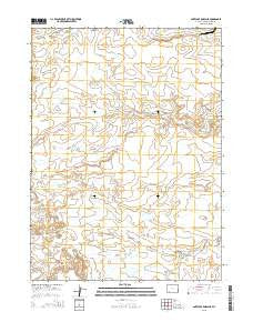 Antelope Knoll NE Wyoming Current topographic map, 1:24000 scale, 7.5 X 7.5 Minute, Year 2015