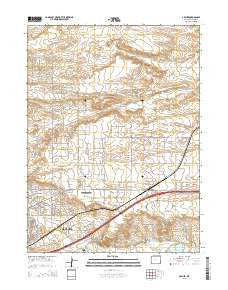 Archer Wyoming Current topographic map, 1:24000 scale, 7.5 X 7.5 Minute, Year 2015