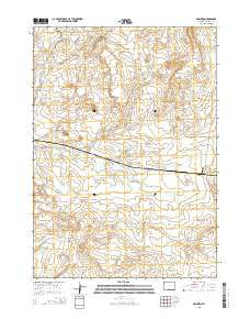 Arminto Wyoming Current topographic map, 1:24000 scale, 7.5 X 7.5 Minute, Year 2015