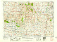 Arminto Wyoming Historical topographic map, 1:250000 scale, 1 X 2 Degree, Year 1958