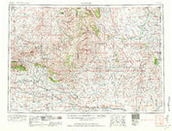 Arminto Wyoming Historical topographic map, 1:250000 scale, 1 X 2 Degree, Year 1962