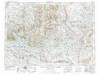 Arminto Wyoming Historical topographic map, 1:250000 scale, 1 X 2 Degree, Year 1955
