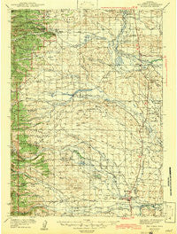 Big Piney Wyoming Historical topographic map, 1:125000 scale, 30 X 30 Minute, Year 1942