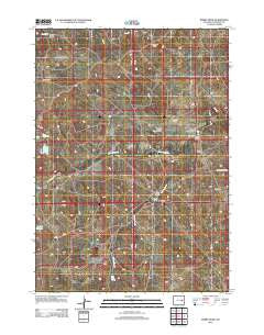 Bobby Draw Wyoming Historical topographic map, 1:24000 scale, 7.5 X 7.5 Minute, Year 2012