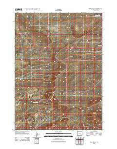 Boot Heel SE Wyoming Historical topographic map, 1:24000 scale, 7.5 X 7.5 Minute, Year 2012