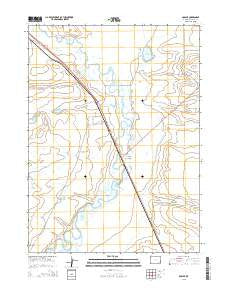 Bosler Wyoming Current topographic map, 1:24000 scale, 7.5 X 7.5 Minute, Year 2015