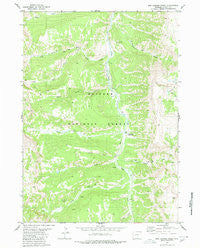 Box Canyon Creek Wyoming Historical topographic map, 1:24000 scale, 7.5 X 7.5 Minute, Year 1980