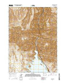 Boysen Wyoming Current topographic map, 1:24000 scale, 7.5 X 7.5 Minute, Year 2015