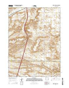 Bristol Ridge NE Wyoming Current topographic map, 1:24000 scale, 7.5 X 7.5 Minute, Year 2015