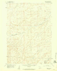 Broad Mesa Wyoming Historical topographic map, 1:24000 scale, 7.5 X 7.5 Minute, Year 1959