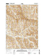 Cabin Fork Wyoming Current topographic map, 1:24000 scale, 7.5 X 7.5 Minute, Year 2015 from Wyoming Map Store