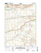 Caldwell Lake Wyoming Current topographic map, 1:24000 scale, 7.5 X 7.5 Minute, Year 2015 from Wyoming Map Store