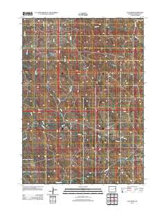 Calf Draw Wyoming Historical topographic map, 1:24000 scale, 7.5 X 7.5 Minute, Year 2012
