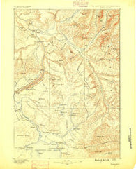 Canyon Wyoming Historical topographic map, 1:125000 scale, 30 X 30 Minute, Year 1886