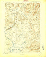 Canyon Wyoming Historical topographic map, 1:125000 scale, 30 X 30 Minute, Year 1895