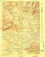 Canyon Wyoming Historical topographic map, 1:125000 scale, 30 X 30 Minute, Year 1896