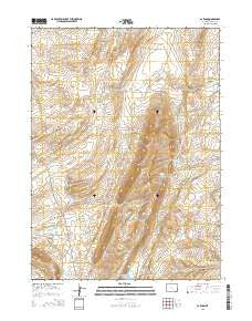 Carbon Wyoming Current topographic map, 1:24000 scale, 7.5 X 7.5 Minute, Year 2015