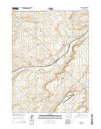 Carter Wyoming Current topographic map, 1:24000 scale, 7.5 X 7.5 Minute, Year 2015 from Wyoming Map Store
