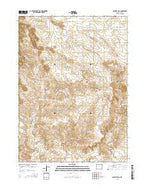 Casebier Hill Wyoming Current topographic map, 1:24000 scale, 7.5 X 7.5 Minute, Year 2015 from Wyoming Map Store