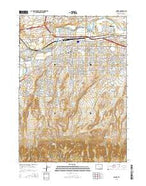 Casper Wyoming Current topographic map, 1:24000 scale, 7.5 X 7.5 Minute, Year 2015 from Wyoming Map Store