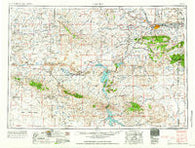 Casper Wyoming Historical topographic map, 1:250000 scale, 1 X 2 Degree, Year 1958