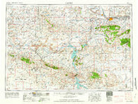 Casper Wyoming Historical topographic map, 1:250000 scale, 1 X 2 Degree, Year 1962