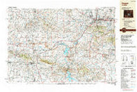 Casper Wyoming Historical topographic map, 1:250000 scale, 1 X 2 Degree, Year 1988