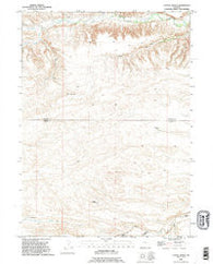 Cattail Ranch Wyoming Historical topographic map, 1:24000 scale, 7.5 X 7.5 Minute, Year 1990