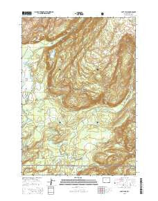 Cave Falls Wyoming Current topographic map, 1:24000 scale, 7.5 X 7.5 Minute, Year 2015