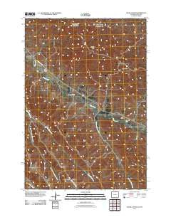 Cedar Canyon Wyoming Historical topographic map, 1:24000 scale, 7.5 X 7.5 Minute, Year 2011