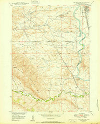 Chalk Buttes Wyoming Historical topographic map, 1:24000 scale, 7.5 X 7.5 Minute, Year 1950