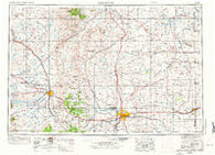 Cheyenne Wyoming Historical topographic map, 1:250000 scale, 1 X 2 Degree, Year 1954