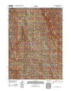 Chicken Creek SE Wyoming Historical topographic map, 1:24000 scale, 7.5 X 7.5 Minute, Year 2012