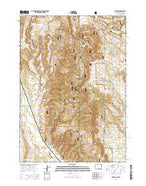 Clifton Wyoming Current topographic map, 1:24000 scale, 7.5 X 7.5 Minute, Year 2015 from Wyoming Map Store