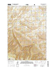 Columbus Peak Wyoming Current topographic map, 1:24000 scale, 7.5 X 7.5 Minute, Year 2015
