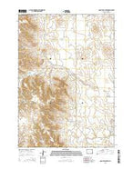 Coon Track Creek Wyoming Current topographic map, 1:24000 scale, 7.5 X 7.5 Minute, Year 2015 from Wyoming Map Store