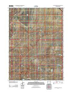 Cooper Lake South Wyoming Historical topographic map, 1:24000 scale, 7.5 X 7.5 Minute, Year 2012