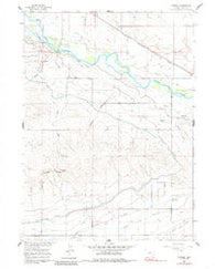 Cottier Wyoming Historical topographic map, 1:24000 scale, 7.5 X 7.5 Minute, Year 1960